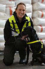 Helen Evans and Wagtail Detection Dog, Lottie