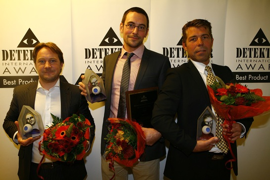 The winners: Spencer Marshall from HID, Erik Lindstein from Embsec and Björn Admeus from Sony. (Photo: Henrik Paulsson)