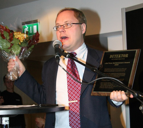 "Martin Gren received the prestigious prize ""Life Time Achievement Award"" from the security trade magazine Detektor and he expressed his gratitude to the 360 banquet dinner guests that had gathered on the Stockholm International Fairs after Sectech's first day on the 20th of October."