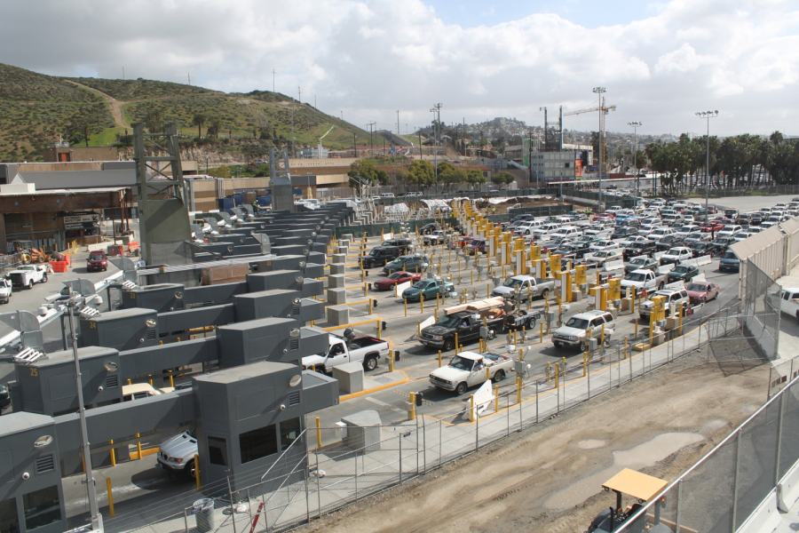 Image result for photo of check point from tijuana to San Diego