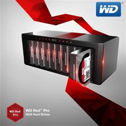 WD Red Pro 6 Tb hard drives feature up to 16 bay shock protection