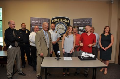 Fayetteville police are presented with 3xlogic camera surveillance system