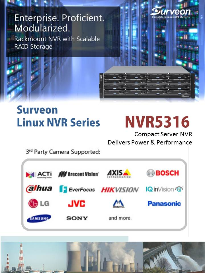 Enterprise NVR for infrastructure applications