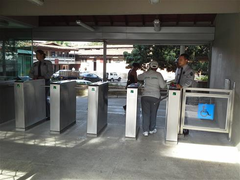 Boon Edam turnstiles supply access control in Colombian University