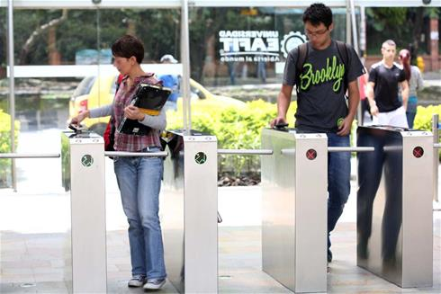 Boon Edam access control turnstiles in action for ten years at Colombian campus