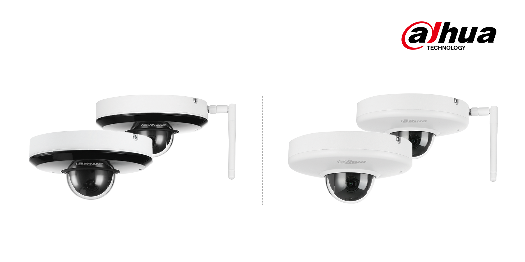 Dahua's PT/PTZ IR cameras are compact in design to bring users more convenience