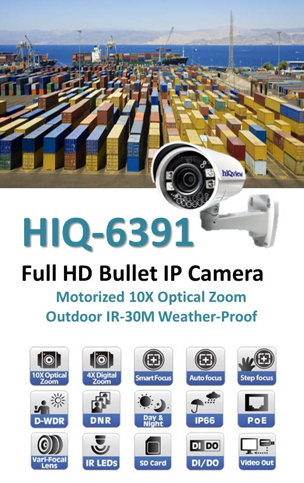 HIQ-6391 IP bullet surveillance camera