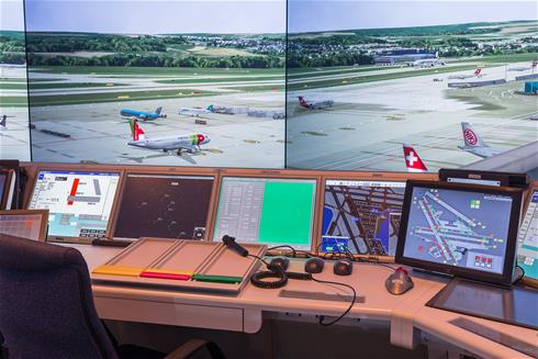Air traffic control simulator uses Eyevis projectors