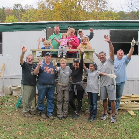 Last year volunteers participated in a trailer home makeover that provided a safer and warmer space for a young Appalachian family.