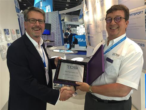 Wiltshire-based security installer is presented with award by Tdsi Managing Director, John Davies