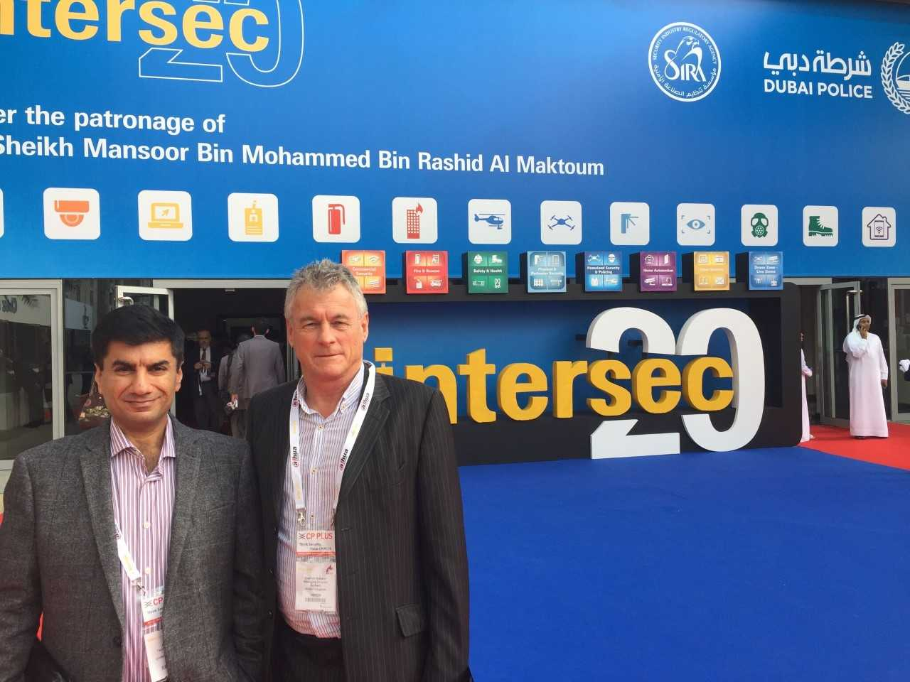 Nortech with partners at Intersec in Dubai last month