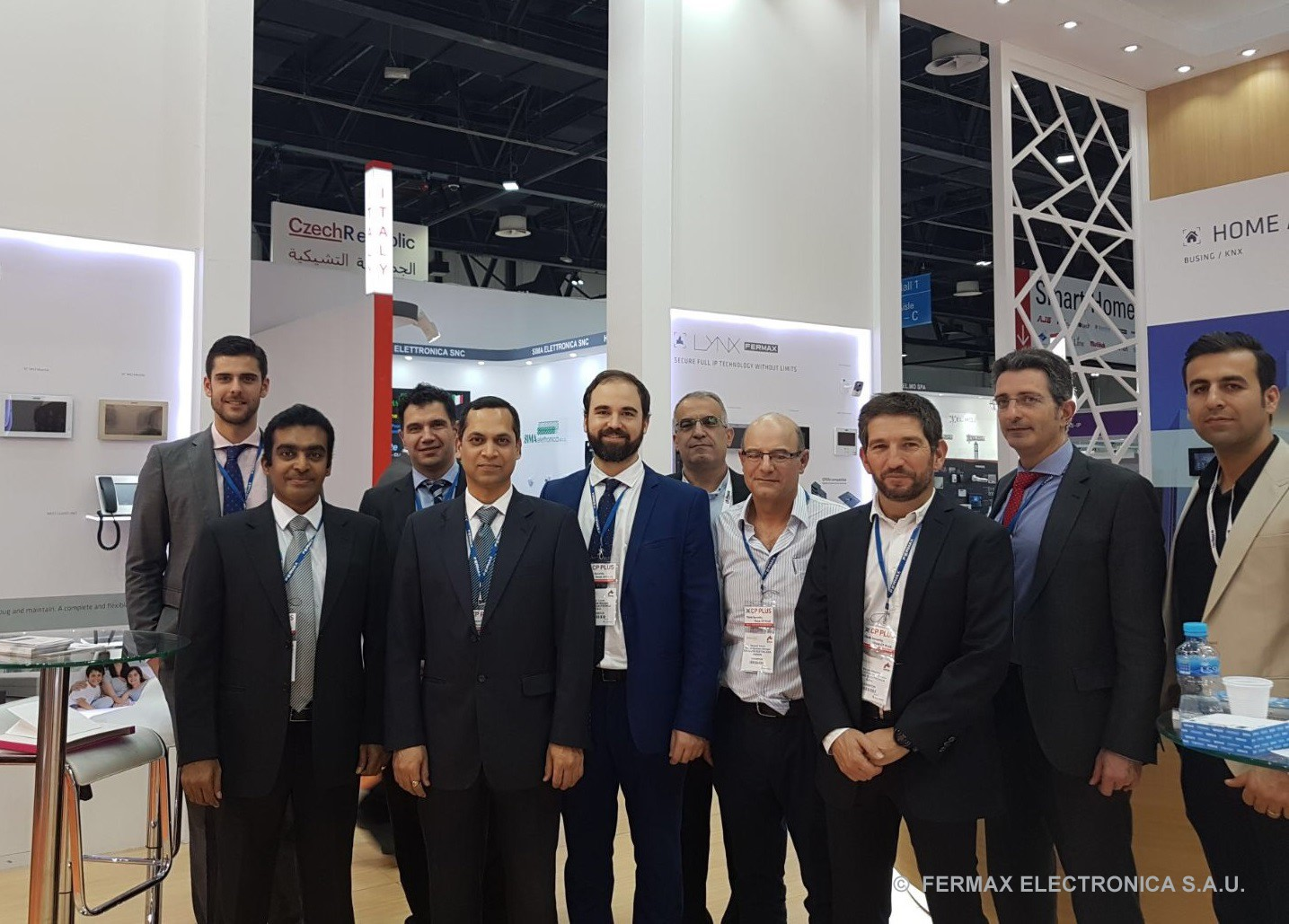 The Fermax team at Intersec 2018