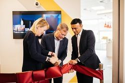 The new Axis Experience Centre was opened by Martin Gren, Axis' Co-Founder; Atul Rajput, Regional Director for Northern Europe; and Bodil Sonesson, Vice President of Global Sales.