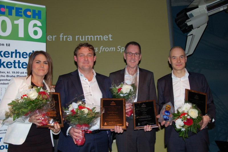 Nedap and the other winners collected their Detektor International Innovation Awards in Copenhagen