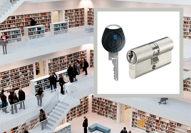 At the new city library in Stuttgart, security is hardly noticeable for visitors during tours, but is highly important for those who run the library.