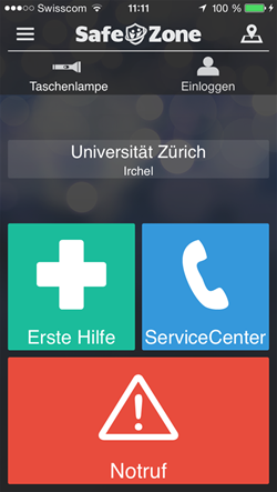 Safezone protects students at University of Zurich