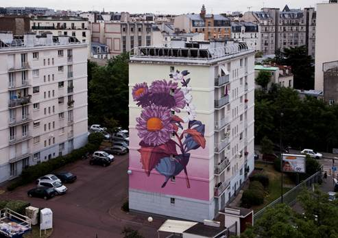 An example of the winning artist's work in Paris, France