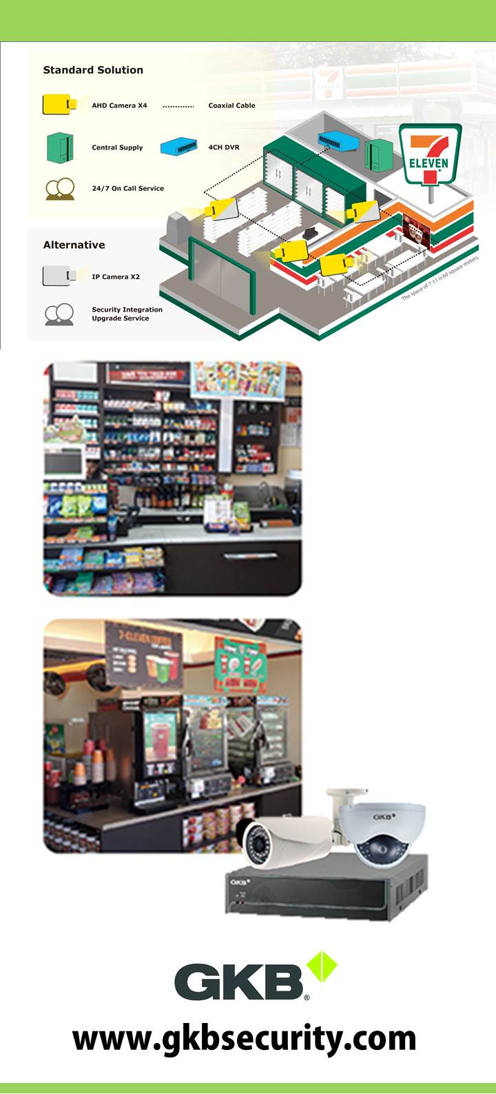 Philippines 7-11 store chain upgrades with GKB cameras