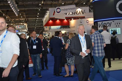 A busy time in the halls during Ifsec 2016 at the Excel in London