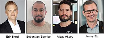 Paneldeltagare Erik Nord, Sales Engineer, Genetec, Sebastian Egenian, bevakningschef, Rapid Säkerhet.