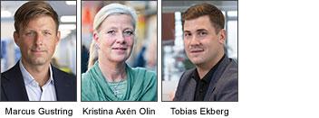 Marcus Gustring, vd, Offentlig Säkerhet, Kristina Axén Olin, ledamot för Moderaterna i utbildningsutskottet.