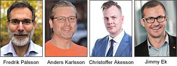 Paneldeltagare Fredrik Pålsson, ISG Nordic, Anders Karlsson, Bosch Building Technologies, Christoffer Åkesson, nordisk försäljningschef, Milestone.